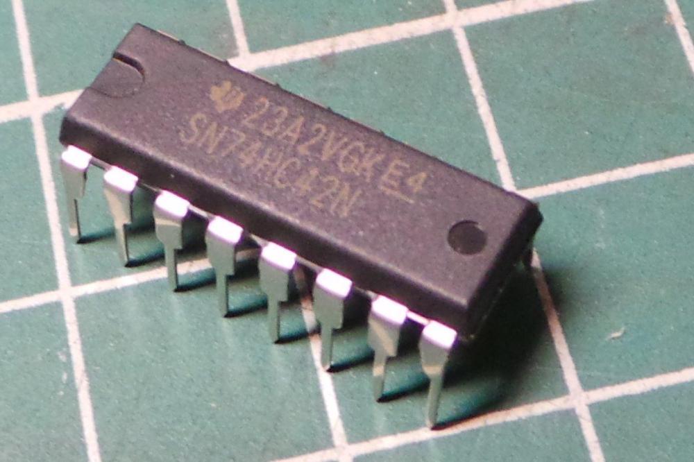 medium resolution of 7442 74hc42 high speed cmos logic 1 of 10 bcd to decimal decoder dsmcz
