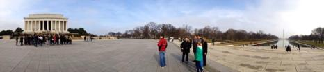 Panorama of Lincoln Memorial and Washington Monument