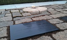 The Eternal Flame commemorates the final resting spot of President John F. Kennedy.
