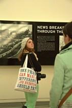 Junior Callie Cox investigates different exhibits in the Newseum.