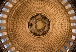Capitol building rotunda ceiling