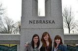 Alyssa, Lyndsey and Hannah at the WWII Memorial