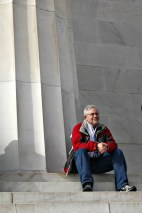 Professor David Swartzlander at Lincoln Memorial