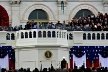 Barack Obama is sworn in as President of the United States.