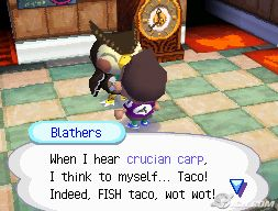 Blathers likes Fish Tacos...
