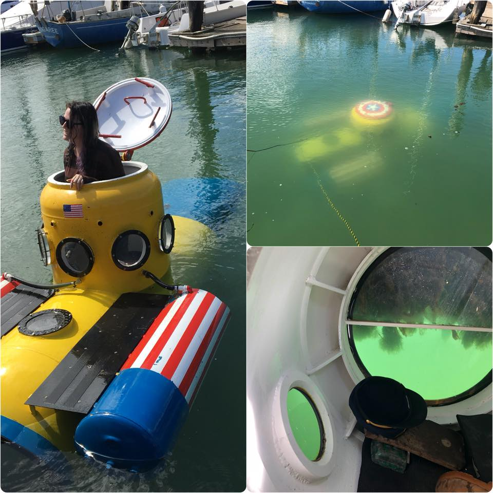The Fangtooth training submarine in use at the Berkeley Marina. Photo courtesy Shanee Stopnitzky.
