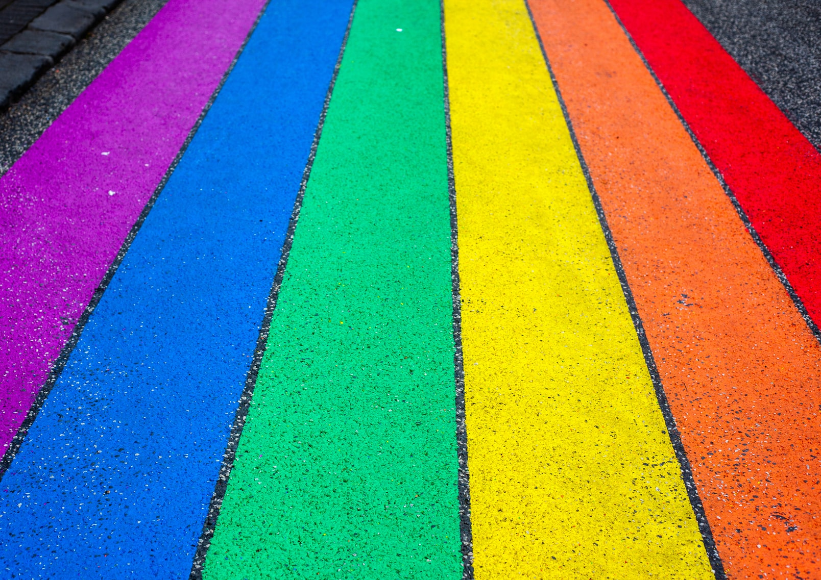 Multicolored striped painted homosexual surface
