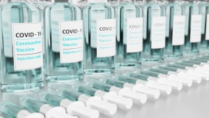 Bottles of COVID vaccine