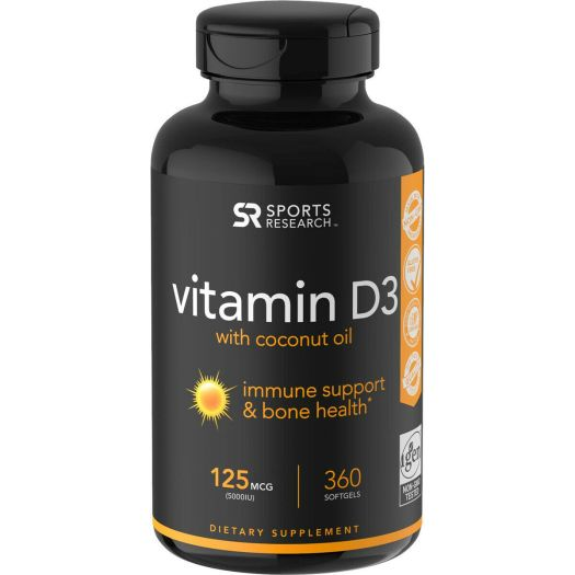 Sports Research Vitamin D3 Dietary Supplement