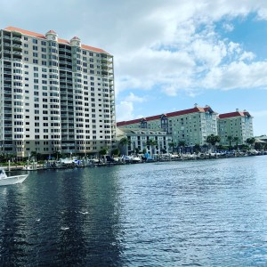 Tampa vacation - Channelside river and buildings