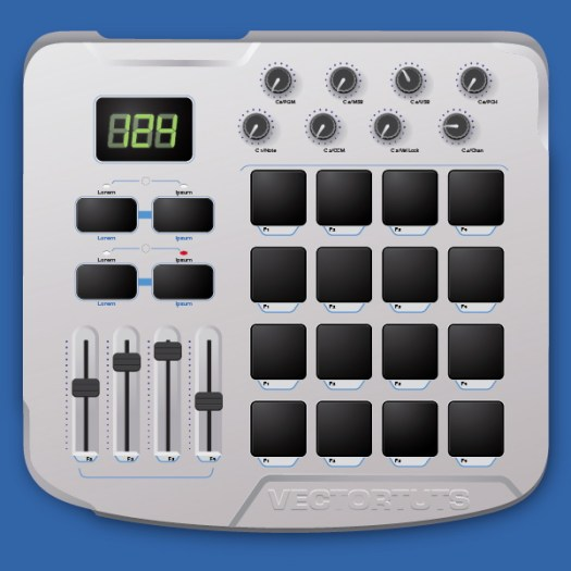 Create a MIDI Drum Machine in Illustrator