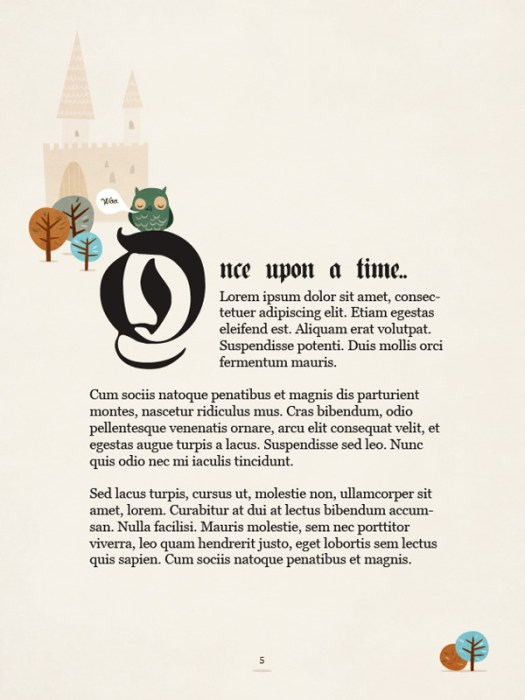 Create the First Page of a Fairy Tale Story Book, with a Hint of Kitsch