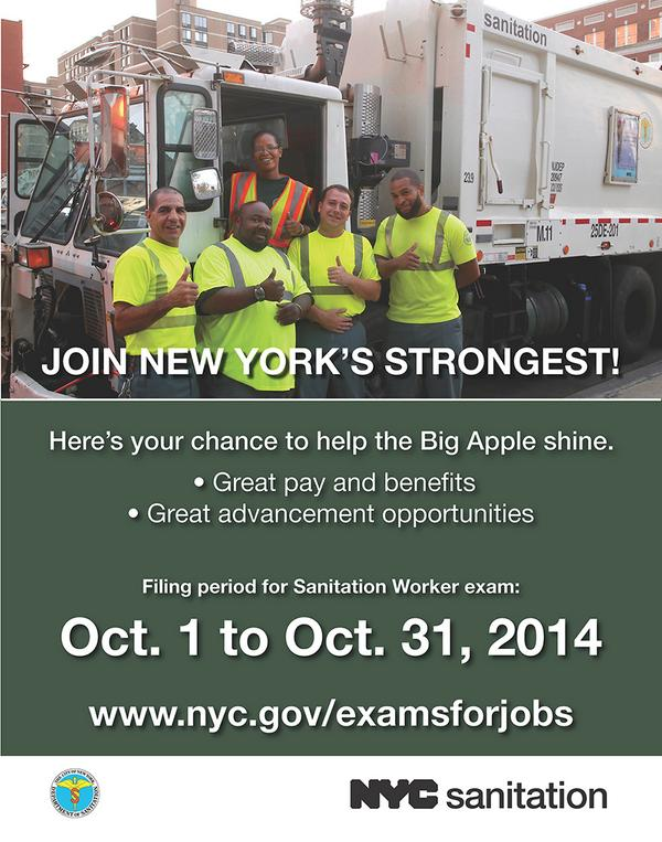 91,000+ Apply for a chance to be a Sanitation Worker