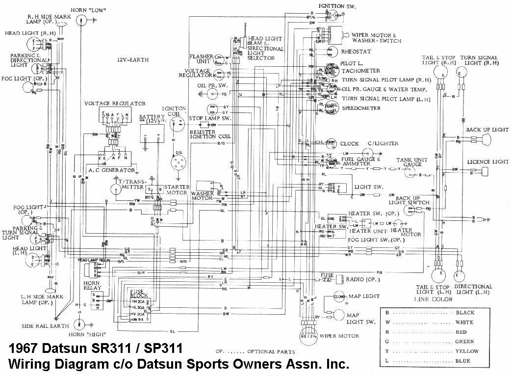 1969 datsun roadster wiring diagram
