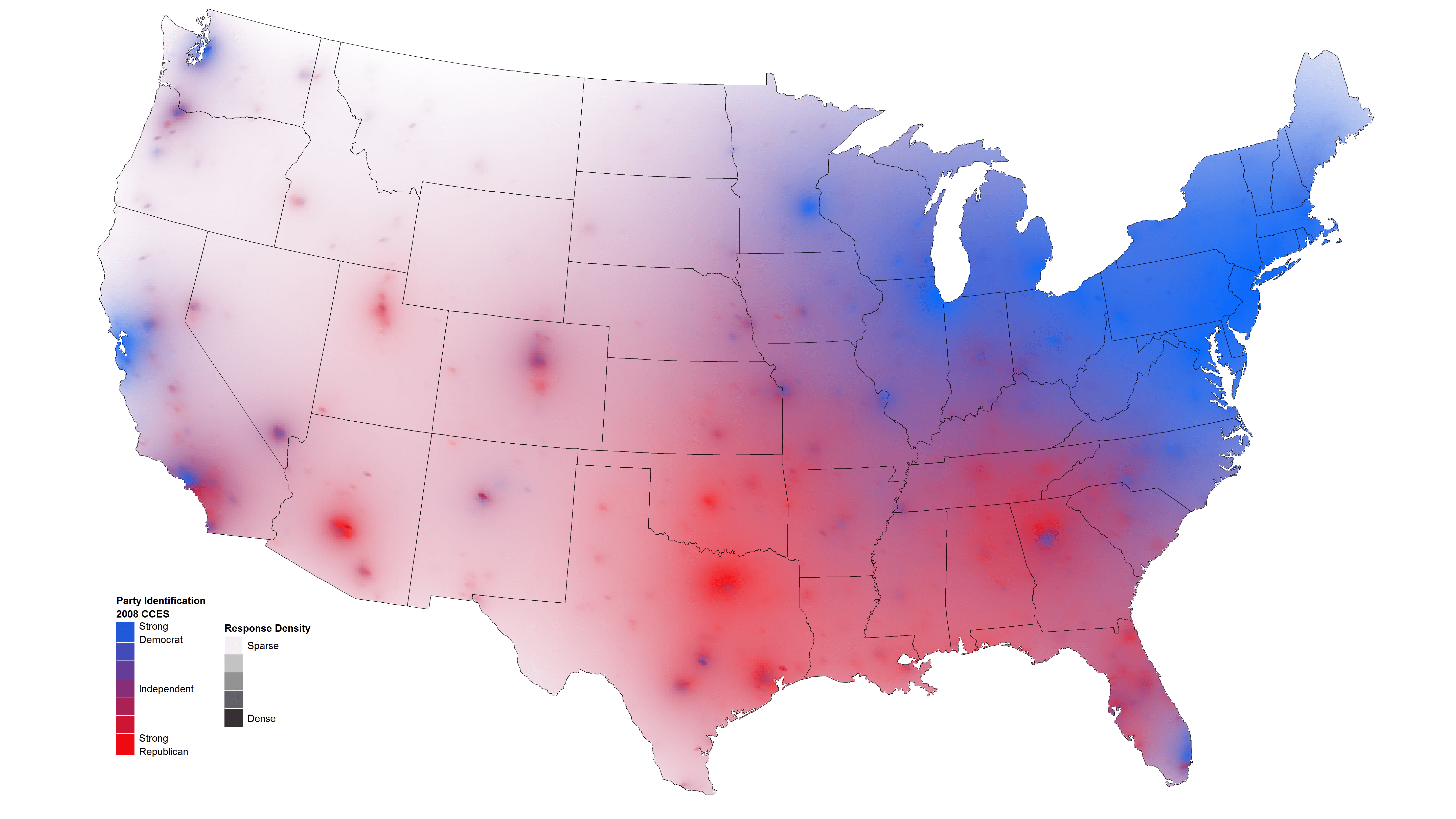 Isarithmic Maps Of Public Opinion Data