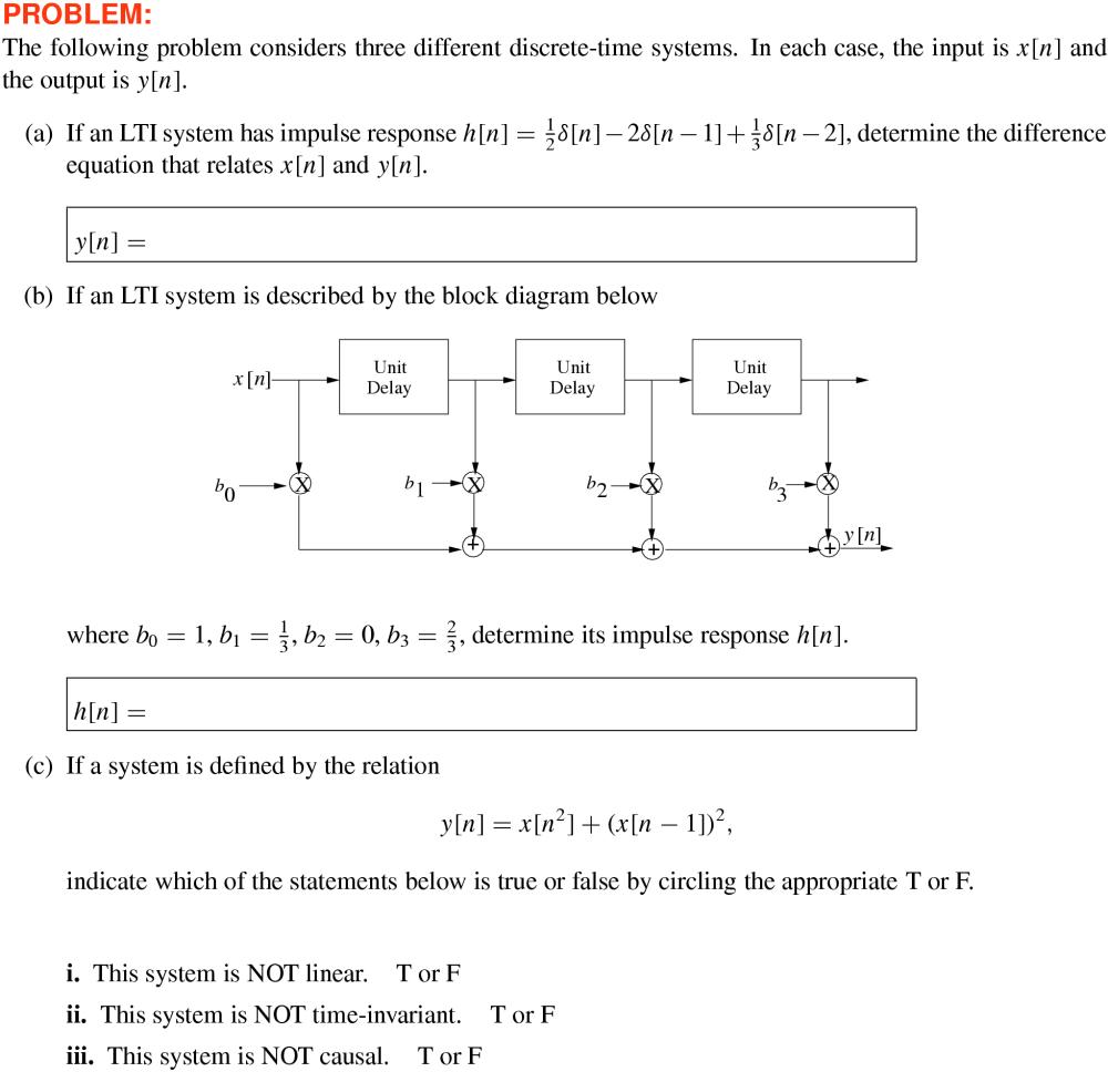 medium resolution of  equation block diagram from impulse response 5 43