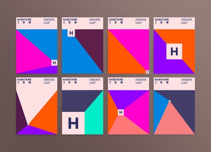 Habitare flyers #graphicdesign #graphic #color #bright #identity #flyer