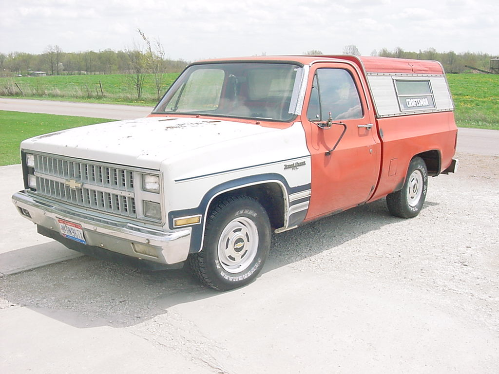 hight resolution of here is my 1981 chevy short box truck it has a two wheel drive 350 v8 with a 13inch dia clutch with a new process 3 speed with overdrive transmission you