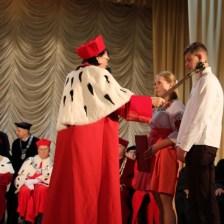 Rector Professor Nadezhda Scotna initiates the freshmen