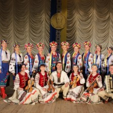 Attendants of the festival greeted by the People's vocal and choreographic ensemble Prolisok