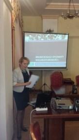 Наукова доповідь під час конференції доцента Віри Меньок