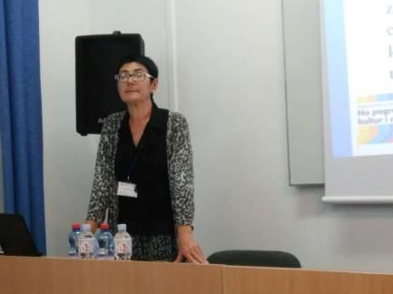 Наукова доповідь під час конференції доцента Олександри Проць
