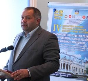 Вітає біолого-природничий факультет заступник міського голови Дрогобича Василь Качмар