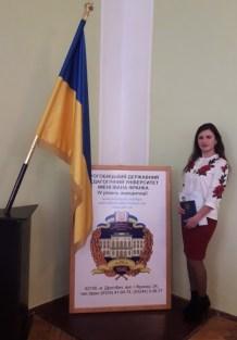 Студентка спецiальностi «Бiологiя» Сузанна Волошин