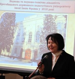 Ректор Надія Скотна вітає гостей на Дні відкритих дверей