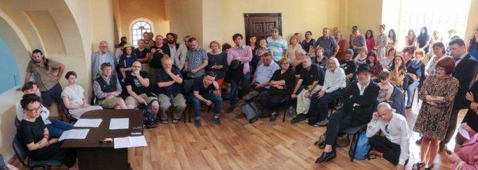 Літературний диспут Ольґи Токарчук. VIІІ Міжнародний Фестиваль Бруно Шульца у Дрогобичі, 7 червня 2018, хоральна синагога.