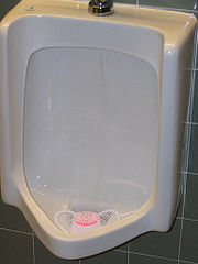 Urinal with Cake
