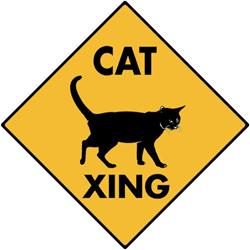 CatCrossingSign