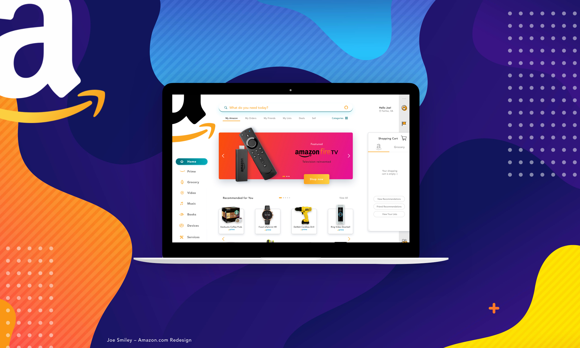 amazon redesigned web experience by Joe Smiley