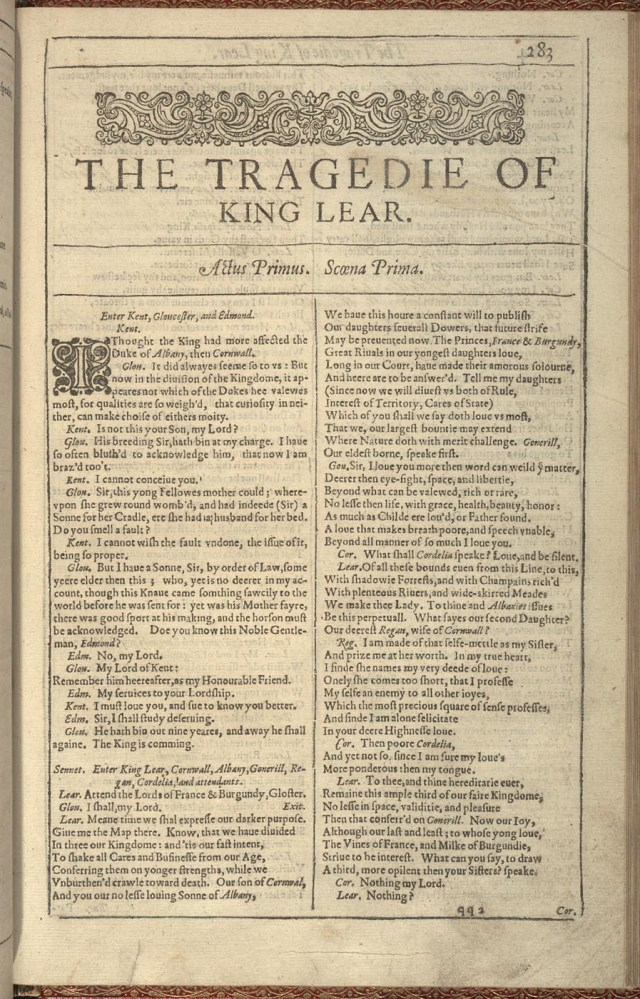 essay three essays on shakespeares tragedy of king lear john