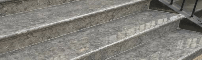 Exterior marble steps and limestone flooring