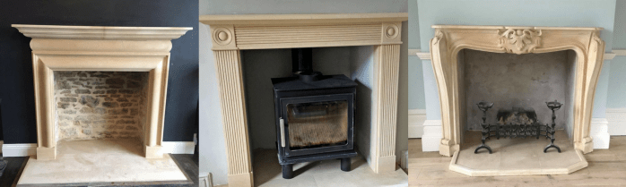 Hand carved limestone fireplace stone supplies