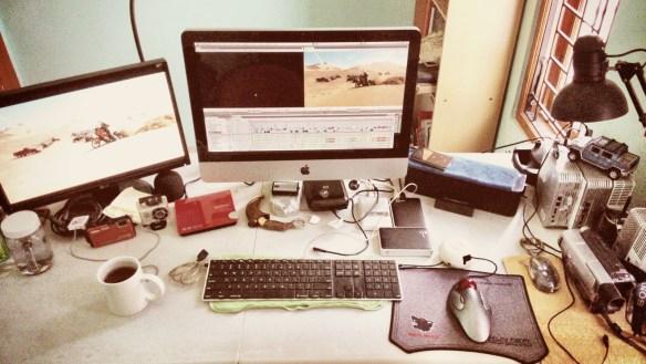 Clasic keyboard dan trackball mouse ...