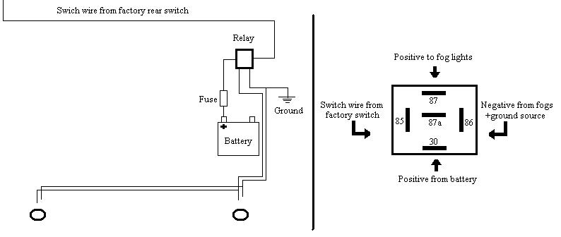 5 pin relay circuit diagram np pajero radio wiring wire led simple schematic
