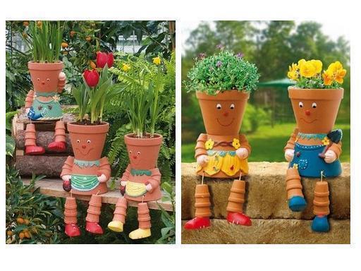 terra cotta doll garden craft