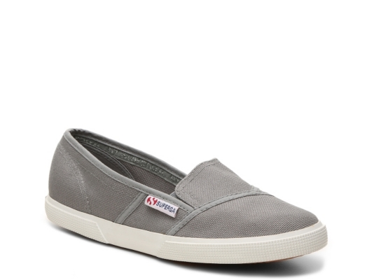 Womens Canvas Slip On Sneakers
