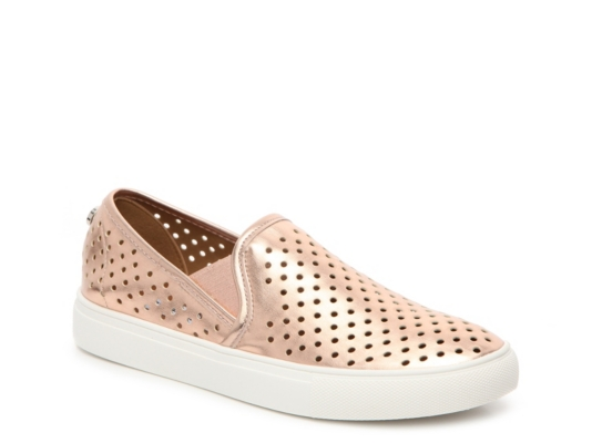 Womens Gold Slip On Shoes