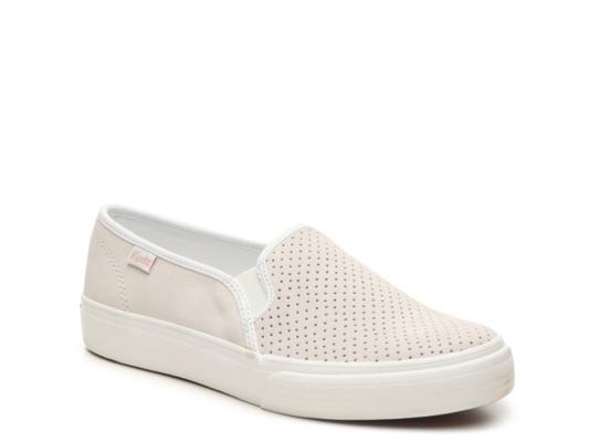 Womens Suede Slip On Sneakers