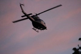 Photographing sunset when this helicopter showed up.