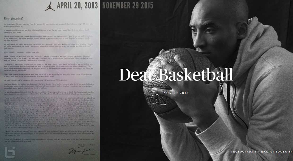 Like Mike To The End: Michael Jordan's 'Dear Basketball' Retirement ...