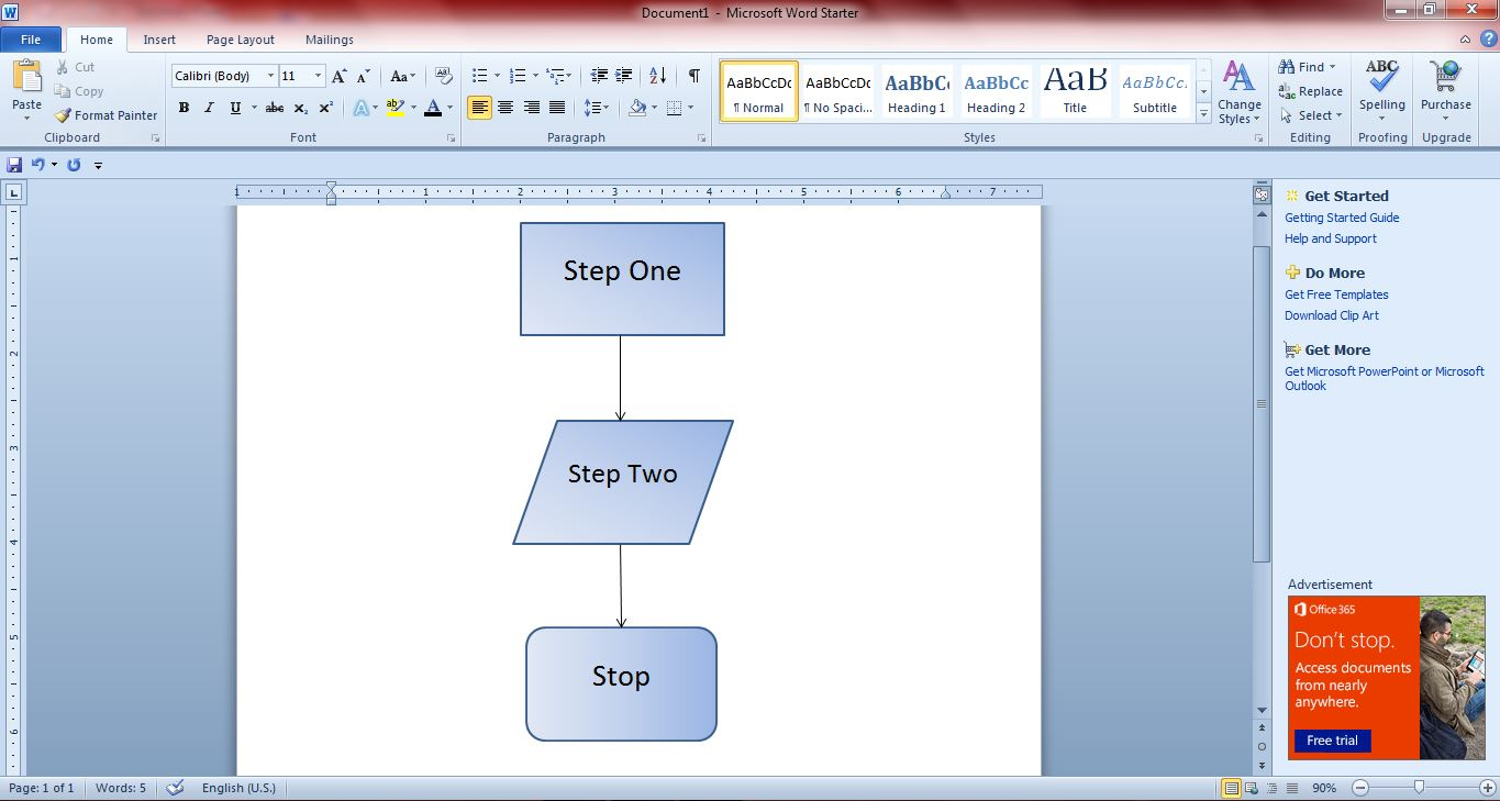 how to create flowcharts with microsoft word 2010 and 2013 guide receiving process flow diagram process flow diagram office 2010 [ 1365 x 729 Pixel ]