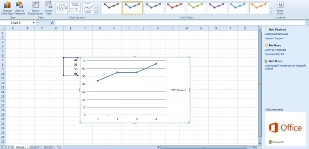 By default the graph above has minor horizontal gridlines on it you can add more to chart selecting layout   also how excel graphs tip rh austinlaptop