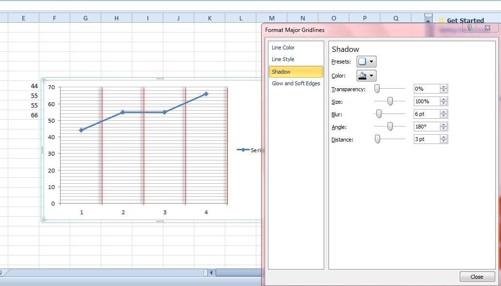 Excel gridlines also how to add gridlines graphs tip dottech rh