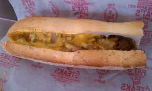 Cheesesteak from Pat's King of Steaks