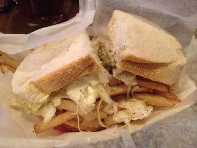 Sandwich from Primanti Bros. Pittsburgh sports travel