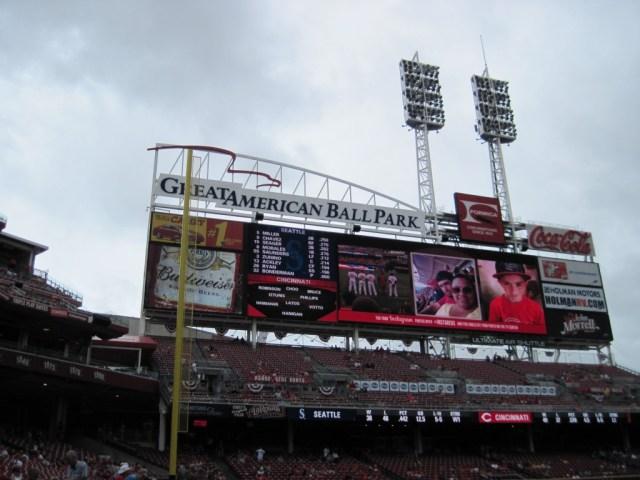 Great American Ball Park scoreboard